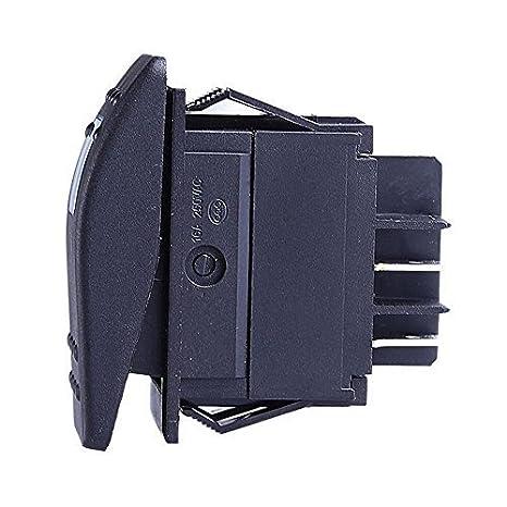 Blue 5 Pcs Qiorange Waterproof LED Toggle Switch Dash 4pin For Car Motorcycle Boat Marine