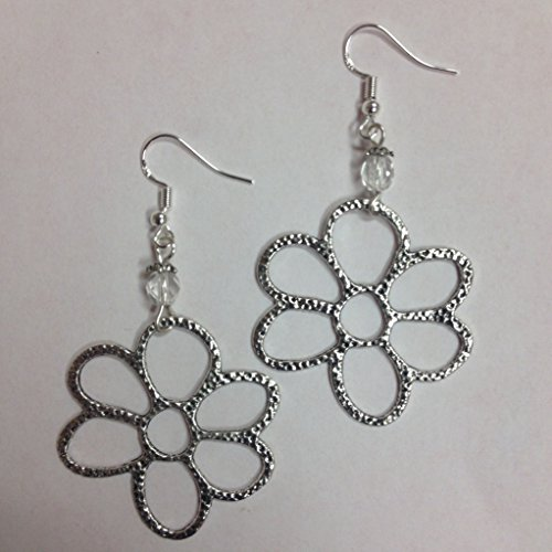Daisy Earrings, Open Flower Earrings, comes on sterling silver earwires Earwires Flower