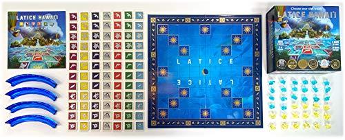 Latice Hawaii Strategy Board Game – The Multi-Award-Winning Smart New Family Board Game. Intelligent Fun for Creative…