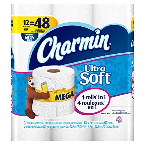 Charmin Ultra Soft Toilet Paper 12 Mega Rolls
