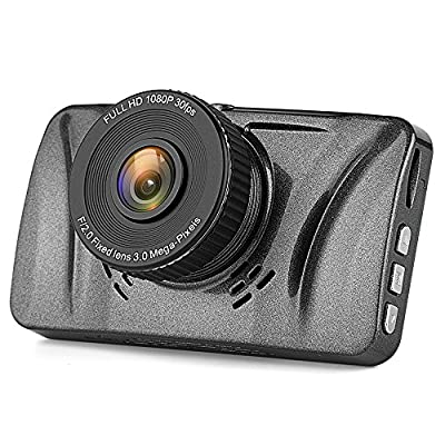 "Telico C15 3.0"" LCD Full HD 1080p Dash Cam Pro Car Dashboard Camera 150 Degress Wide Angle with G-Sensor, WDR Superior Quality, Motion Detection, Parking Monitor, Loop Recording by Telico"