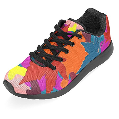 Easy Forest Shoes Womens Sports Leaves Comfort InterestPrint 1 Lightweight Landscape Sneaker Walking Jogging Go Running Casual Multi Camouflage Autumn Running 7Y44vwafq