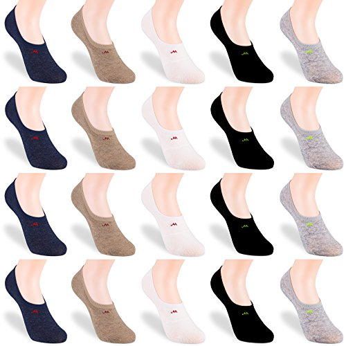IDEGG Women Girls No Show Socks Women Non Slip Ultra Low Cut Casual Cotton Socks Womens No Show /& Liner Socks No Show Socks Women