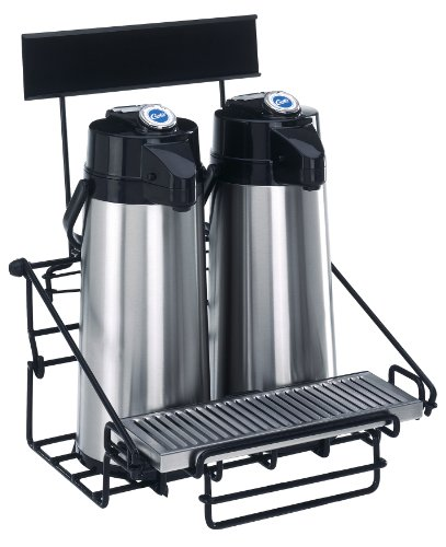 Wilbur Curtis  2 Position Wire Airpot Rack - Compact Design with Integral Drip Tray - WR2B0000 ()