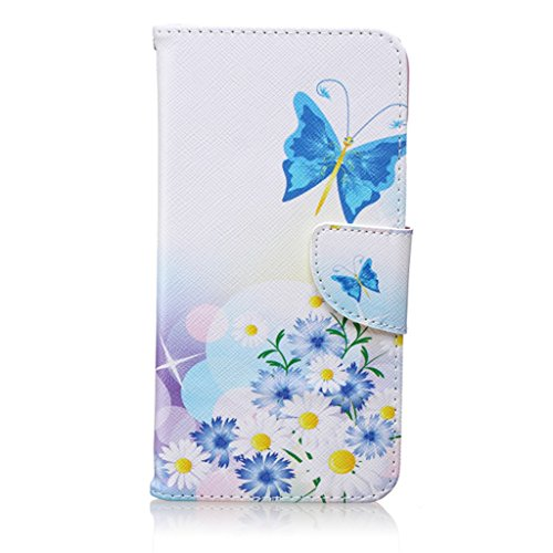 "iPhone 6S Plus / iPhone 6 Plus (5.5"") Coque , Apple iPhone 6S Plus / Apple iPhone 6 Plus (5.5"") Coque Lifetrut® [ papillon ] [Béquille Feature] [Slim Fit] Prime PU Housse en cuir Flip Cover stand avec"