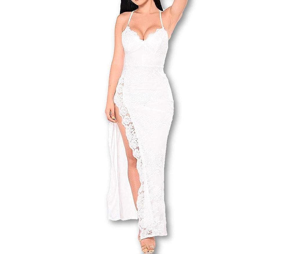 Vestidos De Fiesta Largos De Mujer Sexys Color Blanco Ropa ...