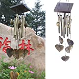 Xiwindar Creative Heart Bronze 8 Tubes Wood Chapel Church Bells Wind Chimes #76440