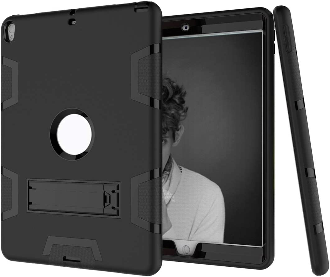 Tablet Protective Clips Shockproof Heavy-Duty Rubber High-Strength Sturdy and Durable Hybrid Three-Layer Full Body Protective Case for New iPad Pro 10.5 Built-in Shockproof Support Tablet PC Bag
