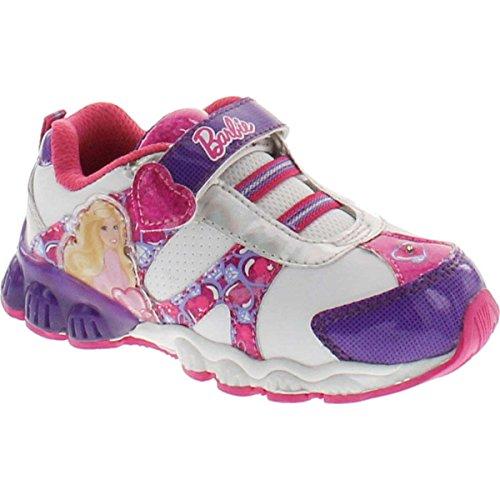 Mattel Girl's Barbie Bbs307 Fashion Sneakers,White Purple,10
