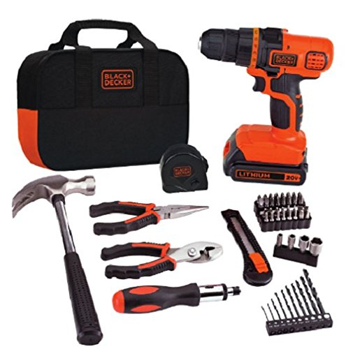 BLACK+DECKER LDX20WPK2B 20V MAX Lithium Ion Drill with 56 Piece Project - Drill 20 Cordless Piece