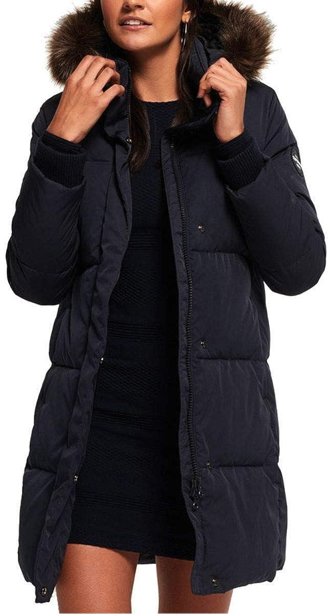 TALLA XL/UK 16/EU 44. Superdry Mujer Cocoon Parka - Súper Azul Marino
