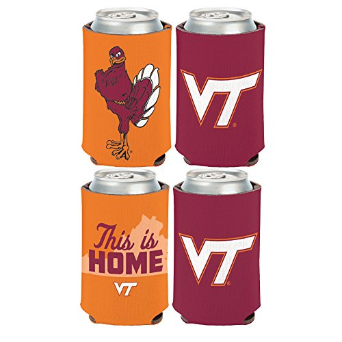 (WinCraft NCAA Virginia Tech Hokies 2 Pack 12 oz. 2-Sided Can Coolers)