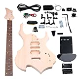 Yibuy Maple DIY HSH Pickup 1Tone 1Volumne Knobs EPS Electric Guitars Builder Kit Suit With All Accessories For DIY Lovers