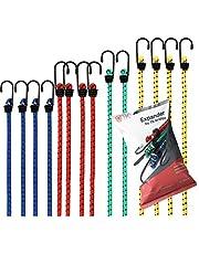 TK Gruppe Timo Klingler Expander Set bagagespanners voor bevestiging met spanriemen, spanrubber bij transport, camping, vastzetten van lading rubberen spanband met haak