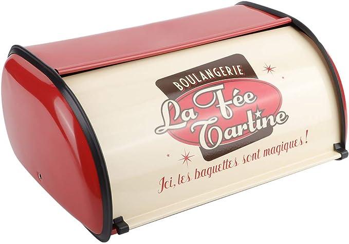 Wallfire Panera organizador de almacenamiento de alimentos para panes cocina multifunci/ón contenedor de metal de gran capacidad pasteles y galletas rosso