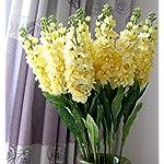 Sksyeen-6PCS-Stems-32-Artificial-Antirrhinum-Snapdragon-Silk-Hyacinth-Flowers-Yellow