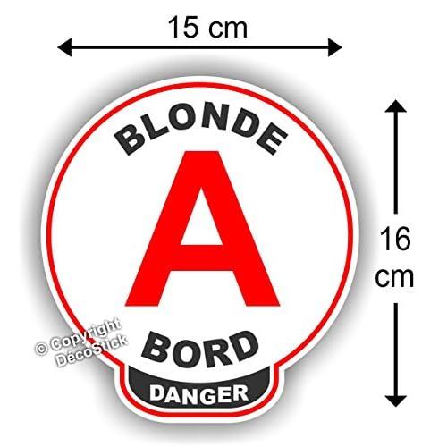 """Disque A Jeune Permis """" Blonde à bord """" Danger Humour outlet"""