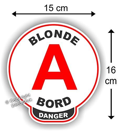 Autocollant Voiture Blonde à Bord