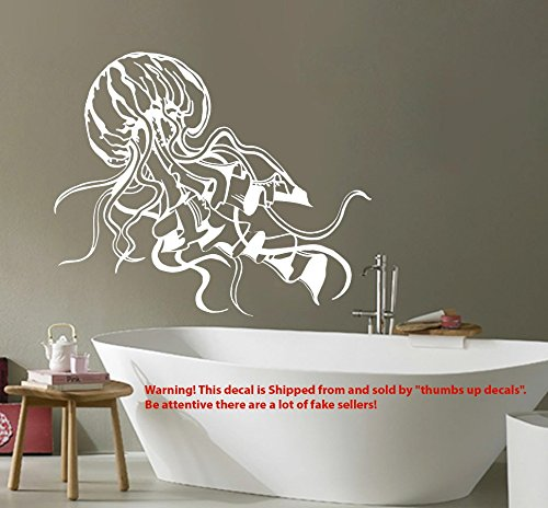 JELLYFISH Decal Sea Life Wall Decals BATHROOM Jelly Fish Vinyl Sticker Ocean Animal Home Decor Boho Decoration T221