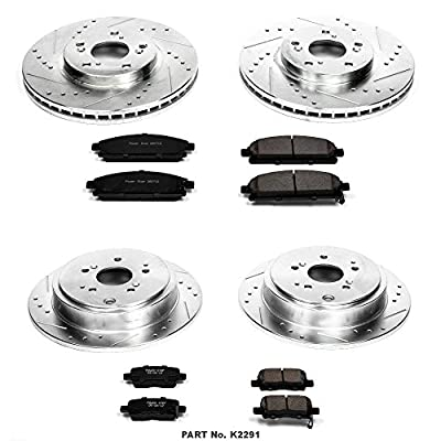 Power Stop K2291 Front & Rear Brake Kit with Drilled/Slotted Brake Rotors and Z23 Evolution Ceramic Brake Pads: Automotive