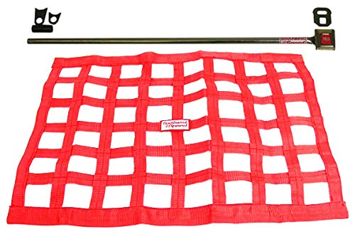 - Southwest Speed RED Racing Window NET & Push Button Installation KIT W/Hardware,18