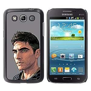 GOODTHINGS Funda Imagen Diseño Carcasa Tapa Trasera Negro Cover Skin Case para Samsung Galaxy Win I8550 I8552 Grand Quattro - Arte de la pintura del hombre tipo guapo