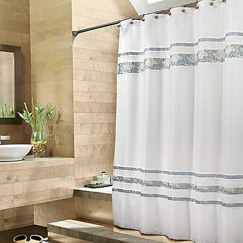 (Croscill Spa Tile 70-Inch W x 75-Inch L Fabric Shower Curtain)