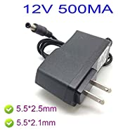 6W Power Supply 100-240V AC To 12V DC 500mA Charger Transformer Adapter Jack 5.5mm x 2.1mm 5.5mm x 2.5mm CH60