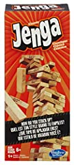 It's the classic block stacking, stack crashing game of Jenga. How will you stack up against the law of gravity? Stack the wooden blocks in a sturdy tower, then take turns pulling out blocks one by one until the whole stack crashes down. Is y...