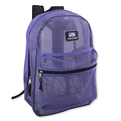 Trailmaker Classic 17 Inch Mesh Backpack with Reinforced Straps (Lavender)