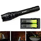Changeshopping Black Zoomable 2000 Lumen 5 Modes CREE XML T6 LED Torch Lamp Light 18650&Charger New