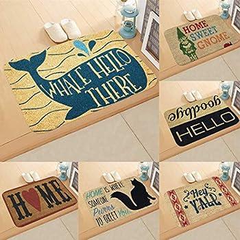 Zippem Non-Slip Door Mat Bedroom Kitchen Flannel Print Floor Mat Doormats