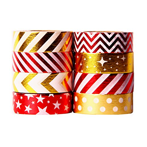 Craft /& Decorative Tapes Red Washi Tape Collection
