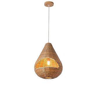 Bcyem E27 Bambus Klassisch Pendelleuchte Hangeleuchte Deckenleuchte