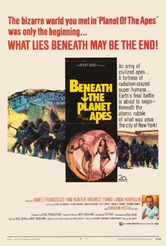 Amazon.com: Movie Posters Beneath The Planet of The Apes - 27 x 40 ...