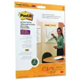 Post-it Wall Pad with Command Strips, 20 x 23-Inches, White, 20-Sheets/Pad, 2-Pads/Pk
