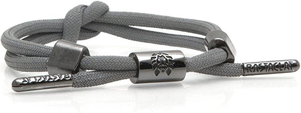 RASTACLAT Armory Silver Shoelace Wristband Bracelet Jewelry NEW