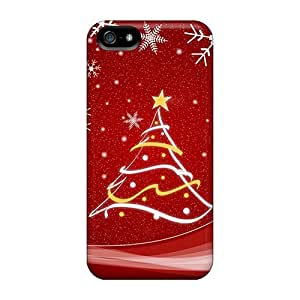 Tpu Case Cover For Iphone 5/5s Strong Protect Case - Christmas Tree Design