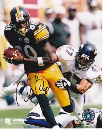 (Autographed Plaxico Burress Photograph - 8x10 - JSA Certified - Autographed NFL Photos)