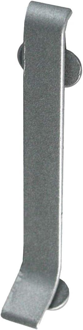 60 mm FUCHS Plinthe pi/èce de coin droite aluminium Hauteur
