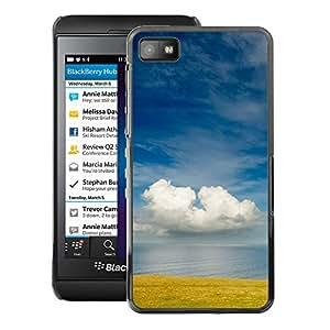 A-type Arte & diseño plástico duro Fundas Cover Cubre Hard Case Cover para Blackberry Z10 (Field Sea Nature Sky Clouds Blue)