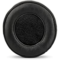 Brainwavz ROUND Sheepskin Leather Memory Foam Earpad - Suitable For Large Over The Ear Headphones - Sennheiser, AKG, HifiMan, ATH, Philips, Fostex, Sony