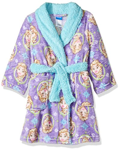 Disney Girls' Big Frozen Robe, Purple, 8 -