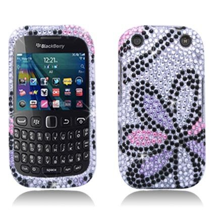 Bundle Accessory for (Verizon/ Boost Mobile) Blackberry Curve 9310 9320 - Daisy Designer Diamond Bling Hard Case Protective Cover+ Lf Stylus Pen + Lf Screen ()
