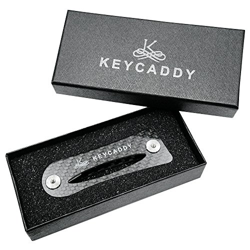 Compact Key Organizer- Key Caddy - Premium Key Holder - Carbon Fiber Black Frame plus Anti Loosening Technology - Great Gift for Him or Her