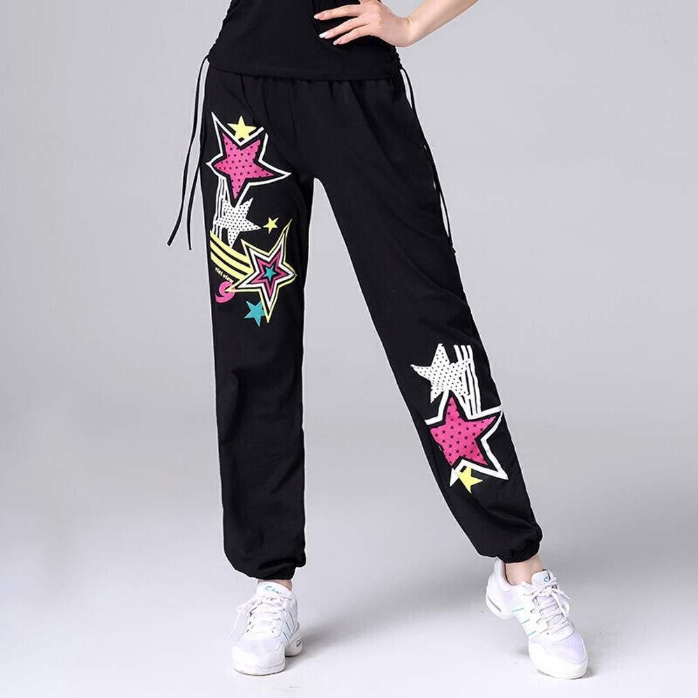 Xiao Jian Clothing Hip Hop Street Dance Pants Clothes Summer Dance Shirt Sports Dance Clothes Dancing unifom (color   J, Size   XXL)