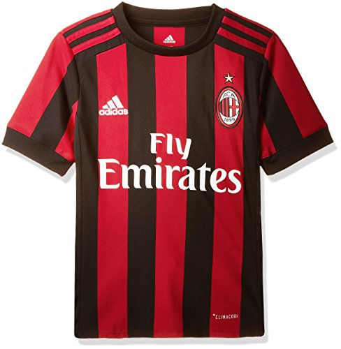 adidas AC Milan 2017/18 Home Jersey - Youth - Victory Red/Black - Age 13-14