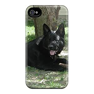 Anti-scratch And Shatterproof Black Germ Shepherd Phone Cases For Iphone 6/ High Quality Cases