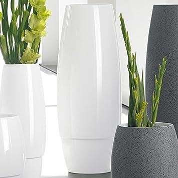Amazon De Asa Selection Space Vase 40cm Weiss Halbhohe Bodenvase