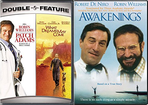 Dream Robin Williams Awakenings True Story & What Dreams May Come + Patch Adams Triple Feature Movie set (Patch Adams What Dreams May Come)
